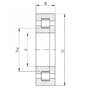 320 mm x 540 mm x 176 mm  ISO NUP3164 cylindrical roller bearings