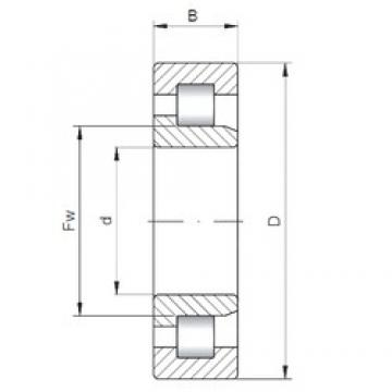320 mm x 540 mm x 176 mm  ISO NJ3164 cylindrical roller bearings